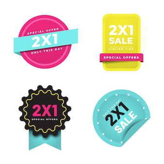 2x1 promotion labels