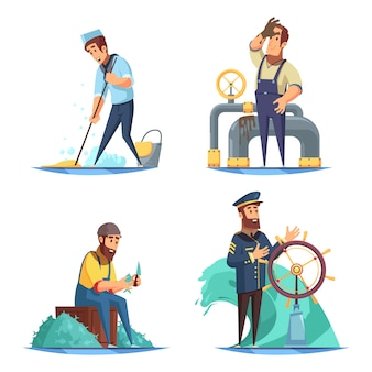 Морская 2x2 концепция дизайна
