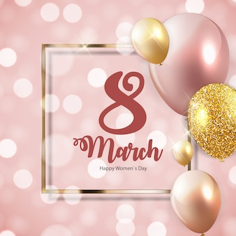 国際幸せな女性の日3月8日花グリーティングカード