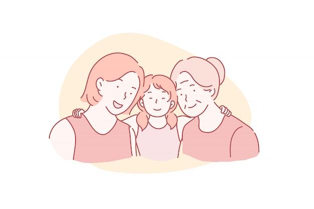 母の日、国際女性の日、3月8日のコンセプト。