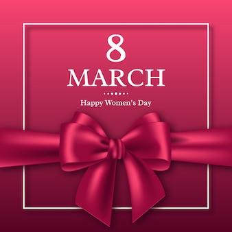 国際女性デーの3月8日のグリーティングカード