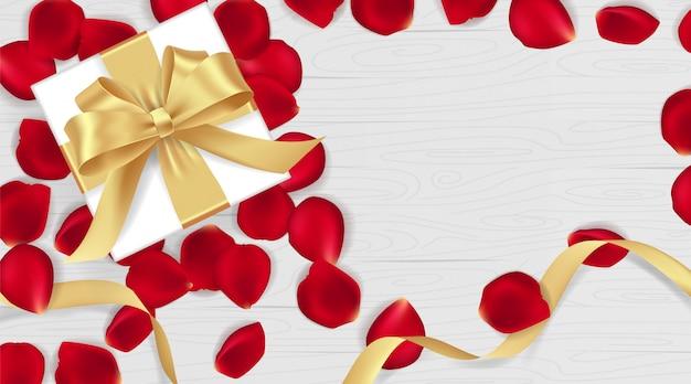 3月8日幸せな女性の日とバレンタインの日のバナー。