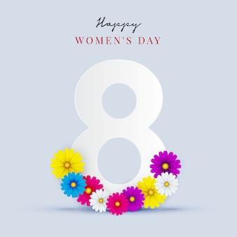 3月8日。国際女性の日グリーティングカード