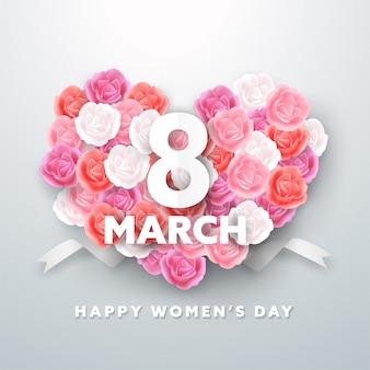 3月8日女性の日グリーティングカード