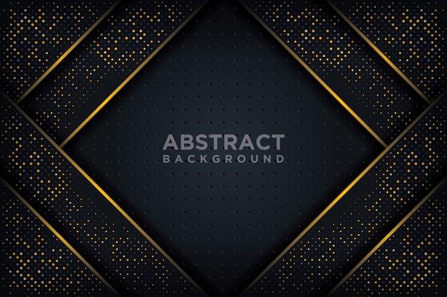 3 dスタイルの輝くドットの組み合わせで抽象的な3 d背景。