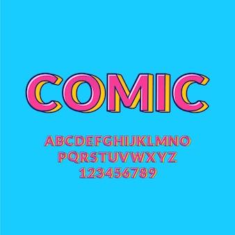 3 dコミックデザインのaからzまでのアルファベットコレクション