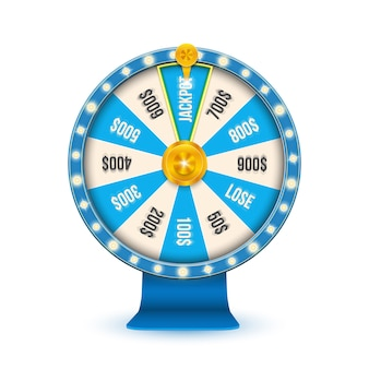 カジノジャックポットホイールを回転させる3 d運命のギャンブル。