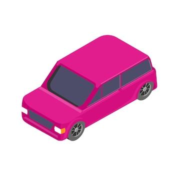 等尺性車のアイコン。分離された3 dのベクトル図