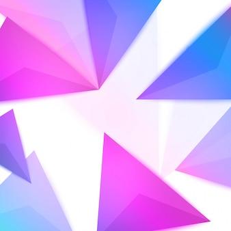カラフルなグラデーション3 d三角形の背景