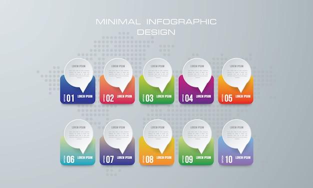 抽象的な3 dデジタルイラストインフォグラフィック。
