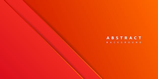 紙層の空白と抽象的な3 d赤い背景