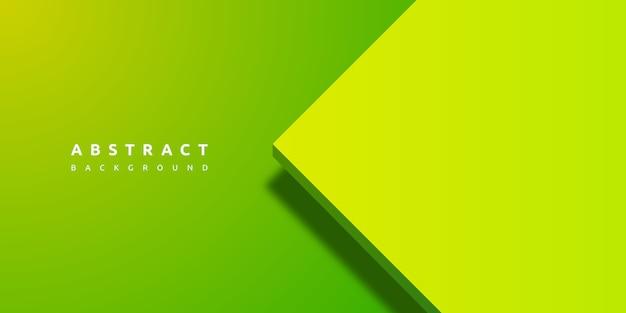 紙層の空白と抽象的な3 d緑の背景