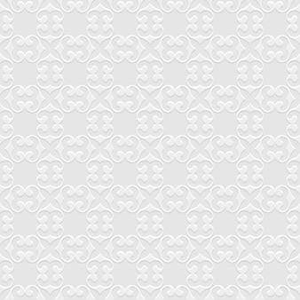 オリエンタルスタイルの3 dグレーのシームレスパターン