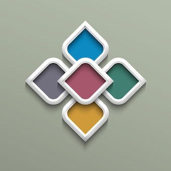 アラビア風の3 dカラーパターン