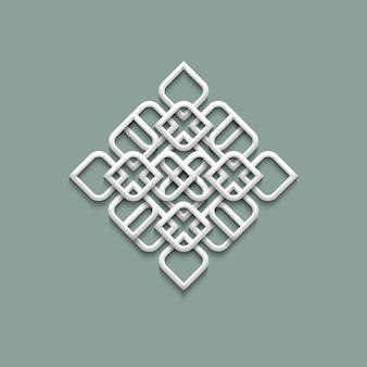 アラビア風の3 dパターン