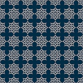 アラビア風の3 dのシームレスパターン