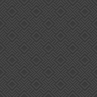 黒の3 dの幾何学的なシームレスパターン-ケルトスタイル