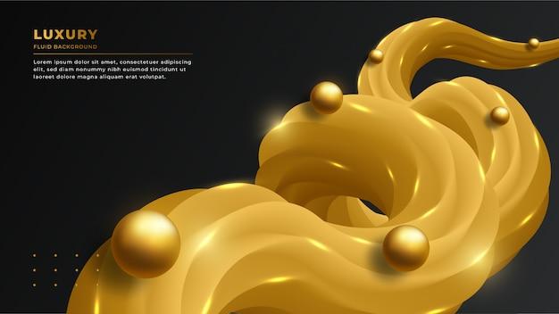 3 dの流体形状を持つモダンで豪華な抽象的な背景