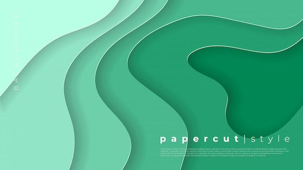 3 dの抽象的な背景と紙の水平方向のバナーは、図形をカットしました。