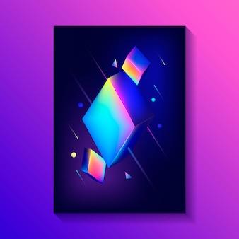 3 dキューブの組成を持つ創造的な装飾的なポスター。