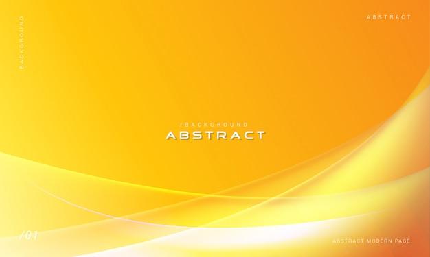 オレンジ色の抽象的な3 d波背景