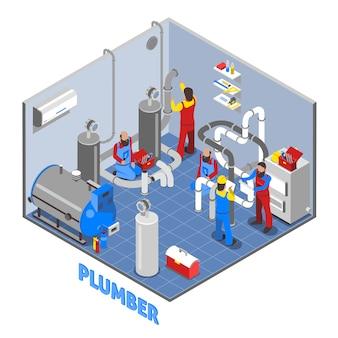 3 d配管工の人々の構成