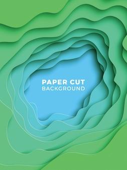 現実的な紙のカットレイヤーと3 dの幾何学的な背景