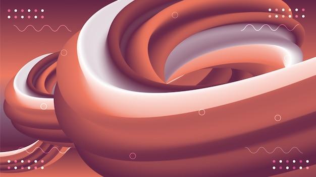3 d流体のカラフルな形状の抽象的な背景