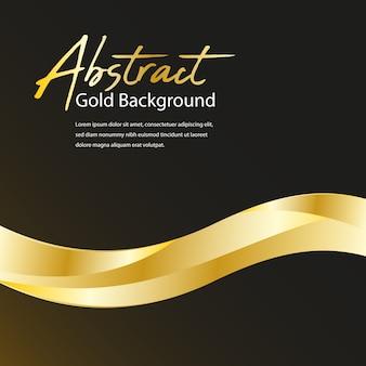 3 d形状と抽象的な黄金背景
