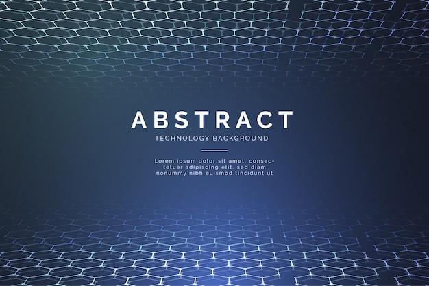3 d六角形と現代の抽象的な技術の背景