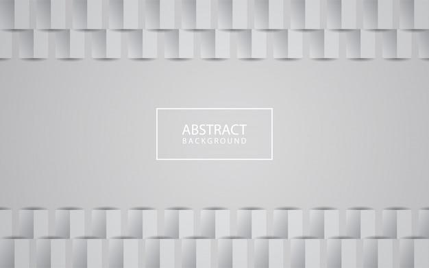 白の抽象的なテクスチャ背景3 dペーパーアートスタイル