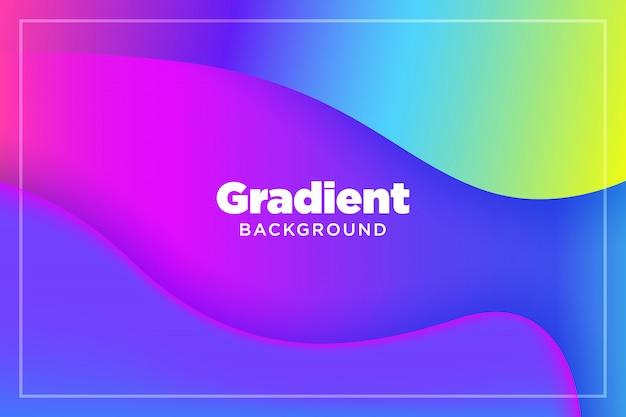 抽象的なグラデーションカラフルな3 dペーパー液体アートイラスト