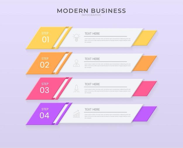 編集可能なテキストと紙のカットスタイルの3 dインフォグラフィックデザイン組織図プロセステンプレート。
