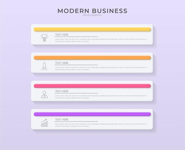 編集可能なテキストの3 dインフォグラフィックデザイン組織図プロセステンプレート。