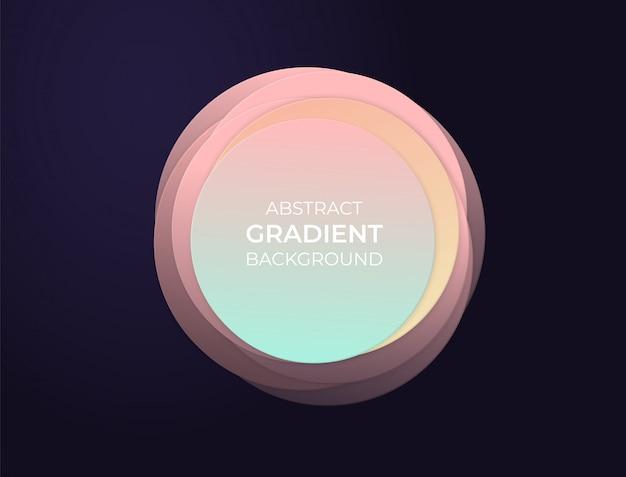 ソフトモダンなグラデーションと3 d効果の抽象的なサークルテキストボックス。背景イラスト。