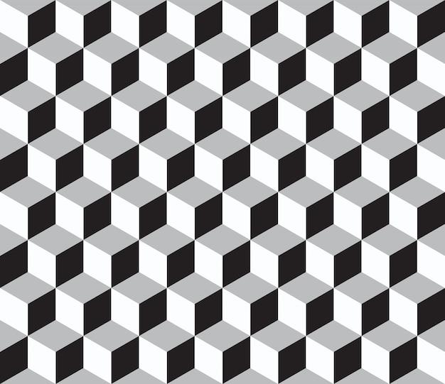 3 dキューブで抽象的な幾何学的なシームレスパターン