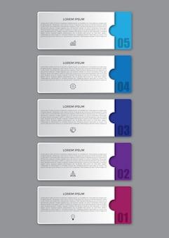 3 dフラットインフォグラフィックデザインテンプレート。