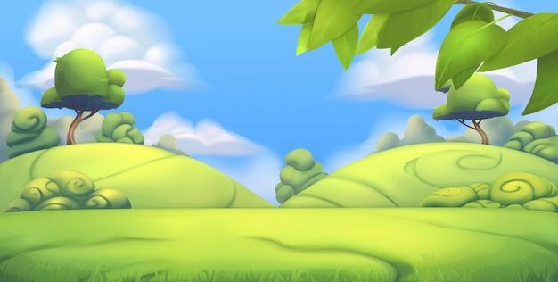 自然の風景。パーク。 3 d背景