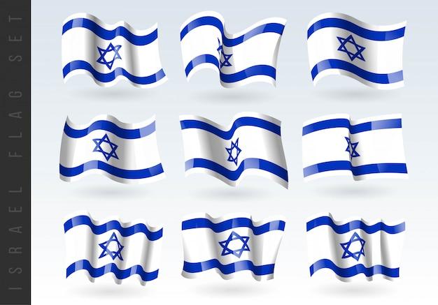 イスラエルの3 dの手を振る旗。