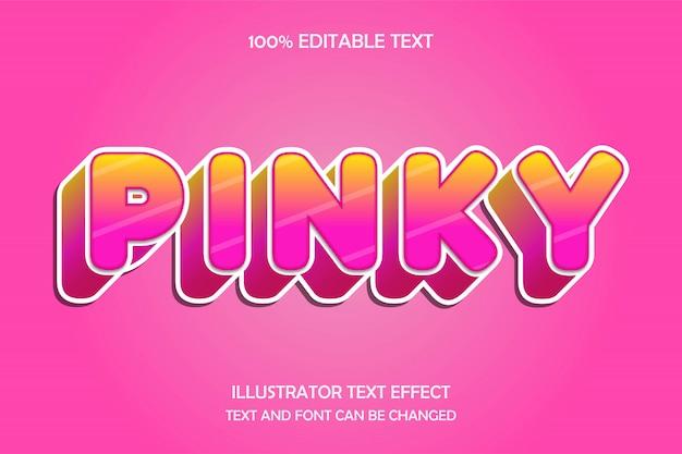ピンキー、3 d編集可能なテキスト効果現代の光沢のあるスタイル
