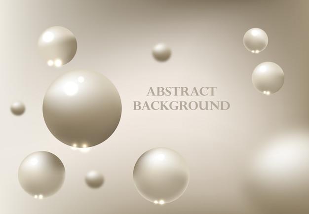 3 d球と抽象的な背景。