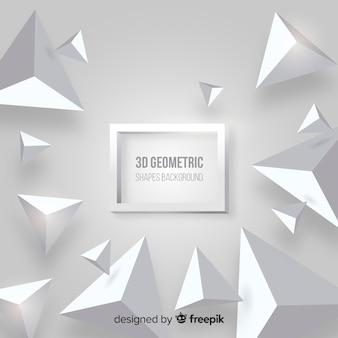 3 dの幾何学的図形の背景