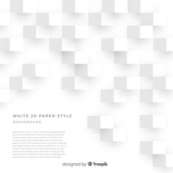 ホワイトの3 dペーパースタイルの背景