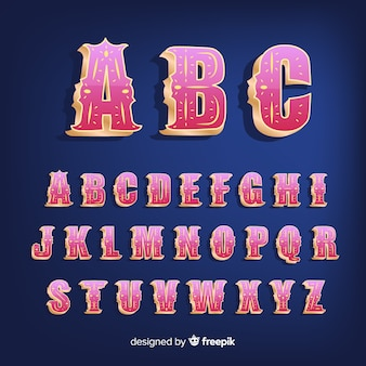 3 dサーカスのアルファベット