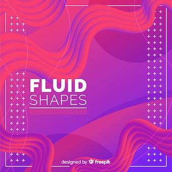 カラフルな流体3 d形状の背景