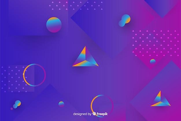 グラデーションの幾何学的な3 d図形の背景