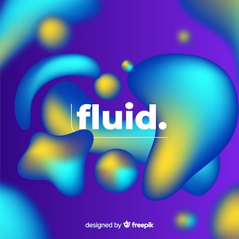 3 dの流体図形とグラデーションの背景