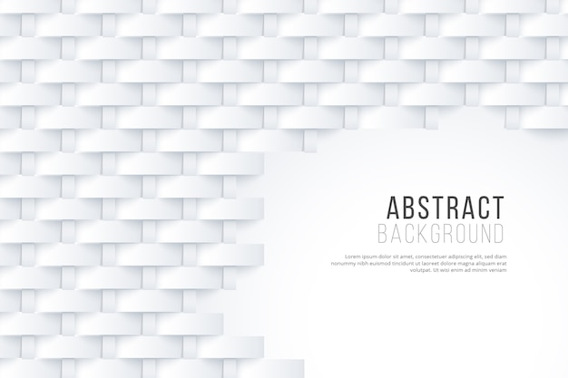 3 dコンセプトの白い抽象的な壁紙