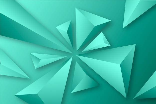 背景の3 dの三角形の概念