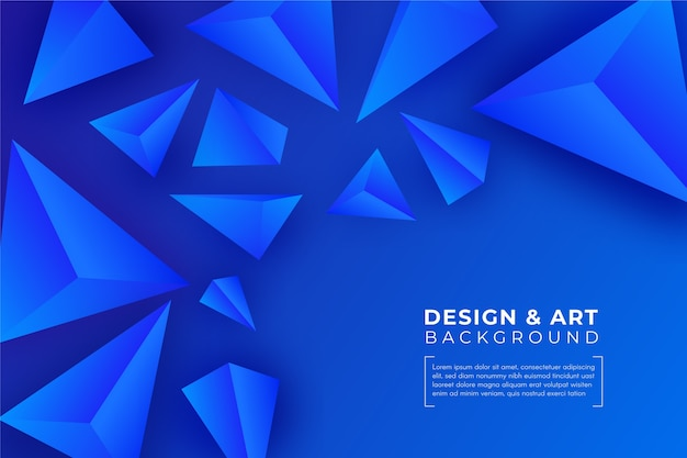 3 dの青い三角形の背景